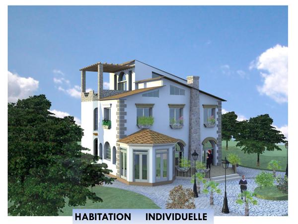 Cabinet d etude d architecture r alisation taleb larbi for Habitation individuelle